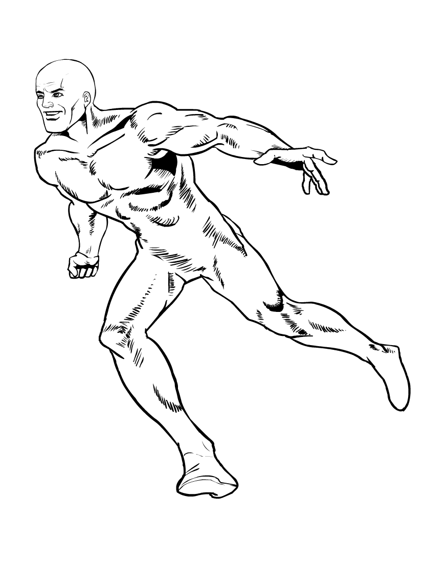 Free blank super-hero clipart 1