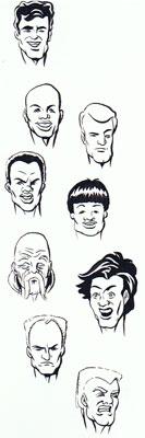 Early HeroMachine head designs