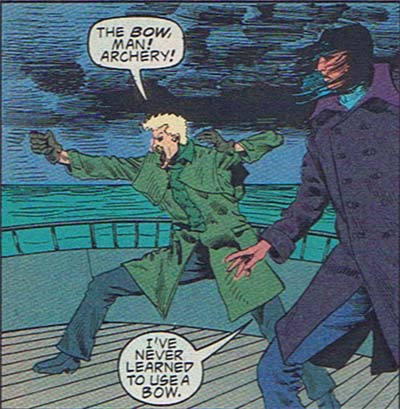 Maybe if the Invisible Woman and Green Arrow had a child he'd be the Invisible Arrow, but till then, you just look silly.