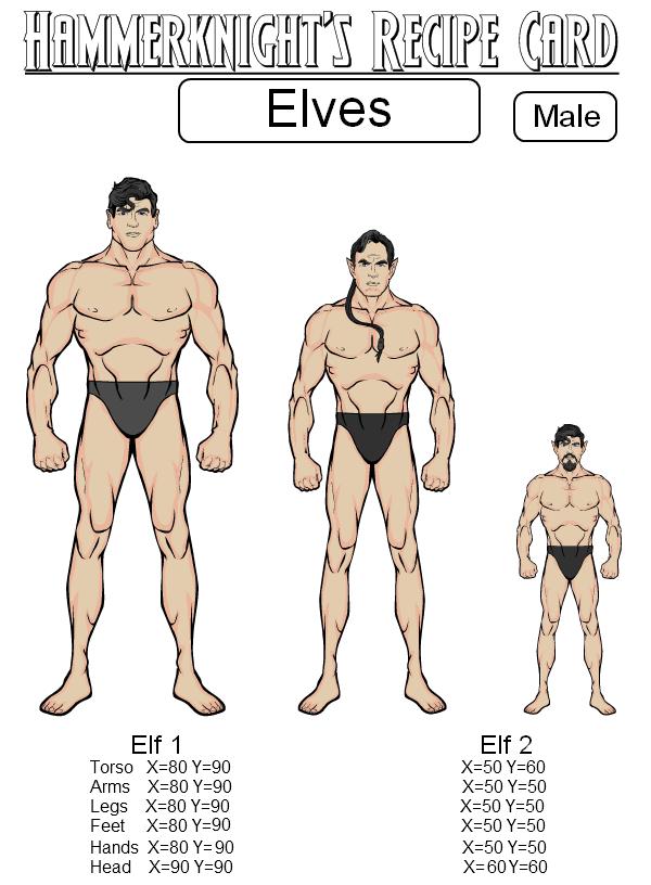 elves male recipe heromachine character portrait creator
