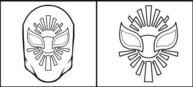Sin Cara Mask Coloring Sheet Coloring