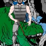 Dwarf-Riding-trex_sirawesome