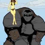maniacmick-junglegirlandrockape