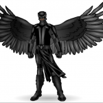 ams- The Raven (winged warrior crime fighter)