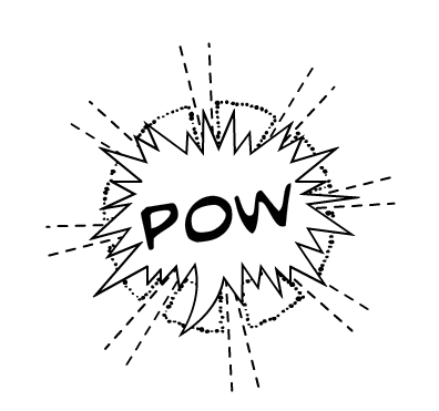 word balloon POW