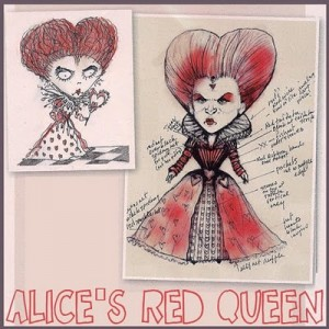 Brooke Hagel-illustrator-red queen-alice in wonderland-colleen atwood
