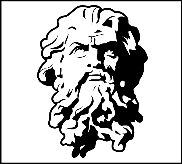 Line Drawing Of Zeus : Zeus line drawing