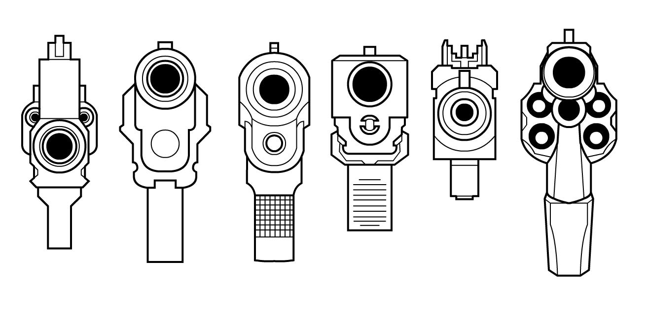 Pistol Fronts | HeroMachine Character Portrait Creator