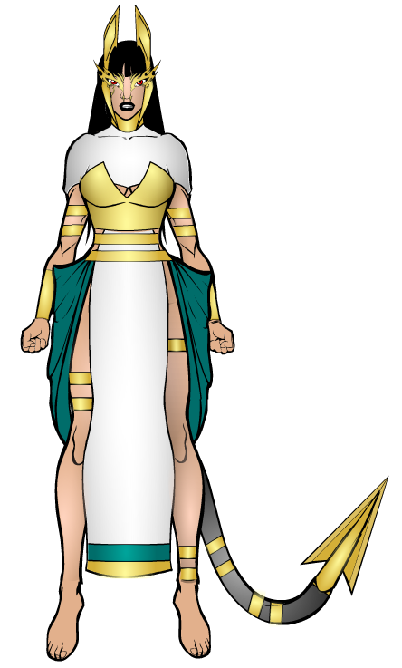 how to draw egyptian goddess