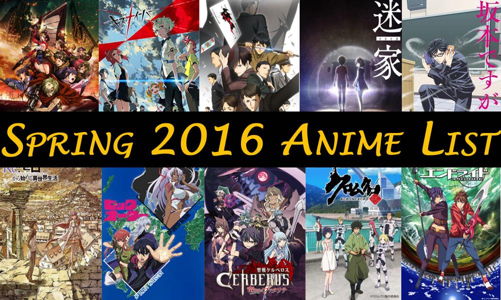 anime talk  my spring 2016 top 5 anime
