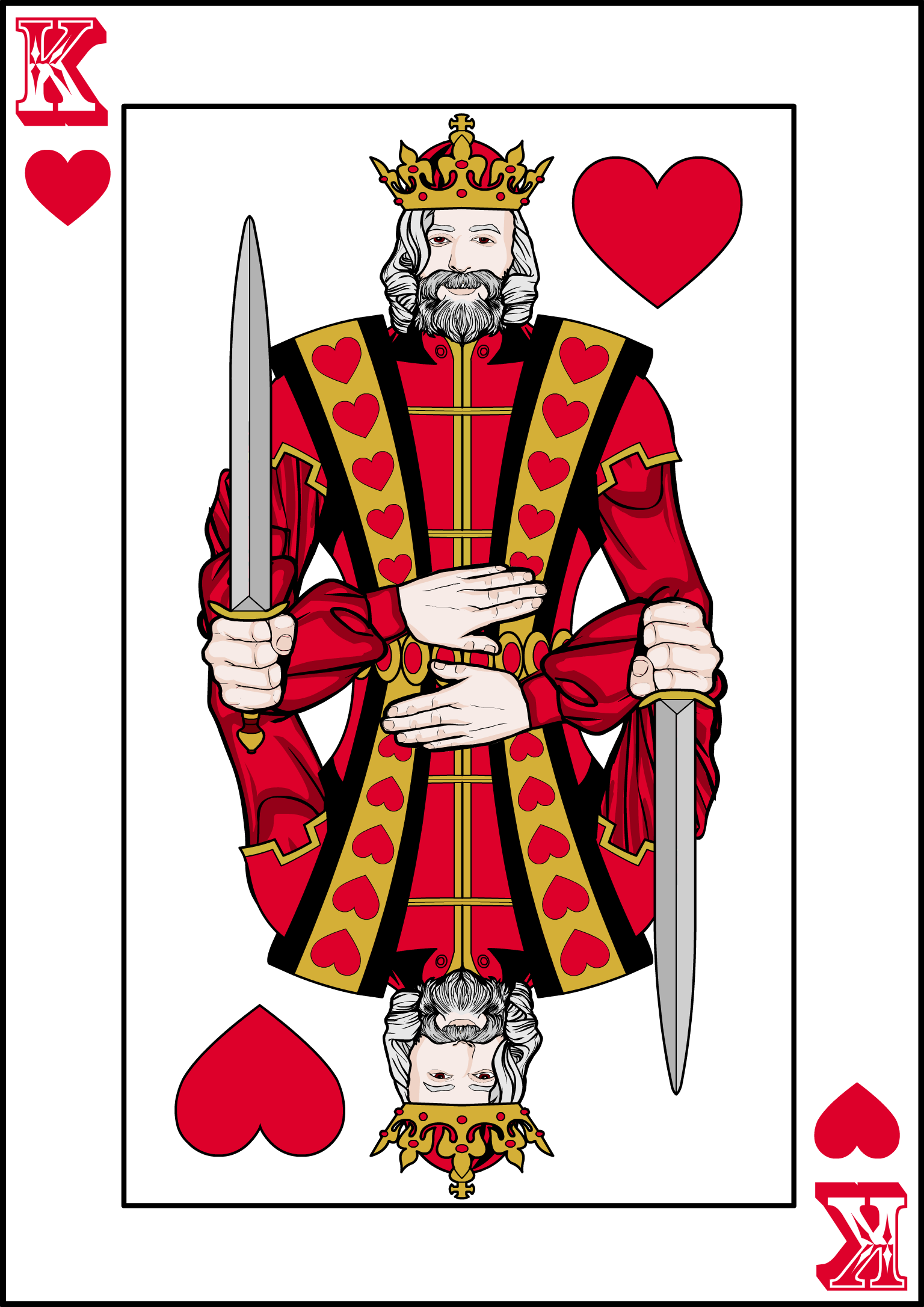 Brons-King of Hearts